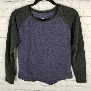 TRIPLE FLIP   raglan dolman long sleeve shirt